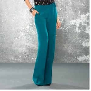 Paige Black Label 100% Silk Teal Pants